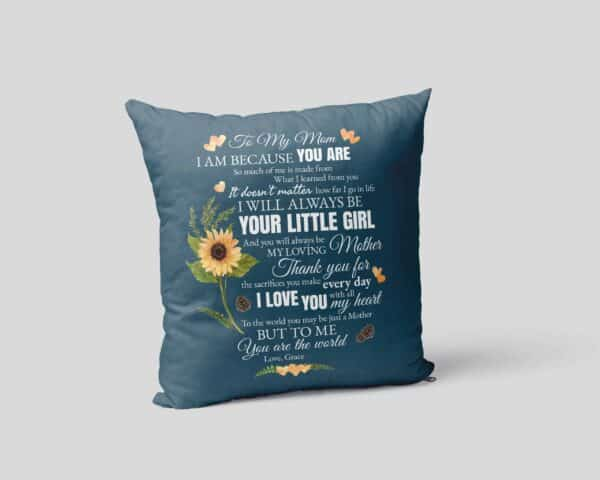 To My Mom Personalized Pillow Case pillow-mockup-square-02