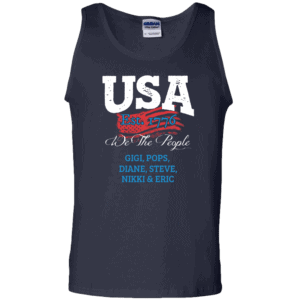USA We the people - Personalized Custom Printed Tank Top Navy