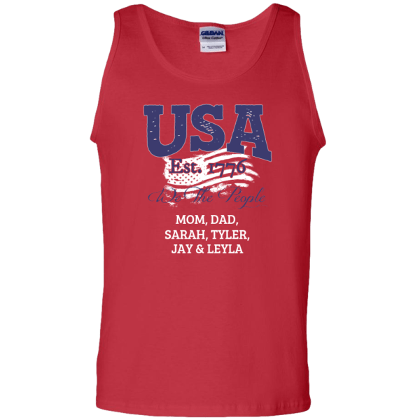 USA We the people - Personalized Custom Printed Tank Top Red