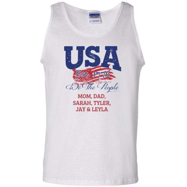USA We the people - Personalized Custom Printed Tank Top White