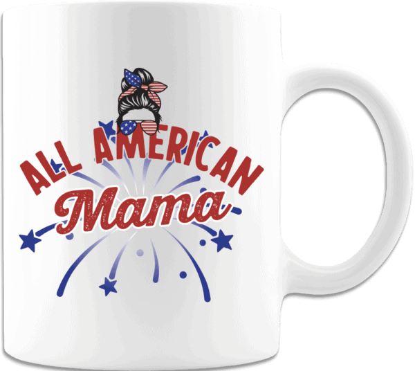 All American Mama - Custom Printed Coffee Mug
