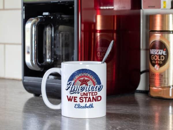 All American Mama - Custom Printed Coffee Mug on table