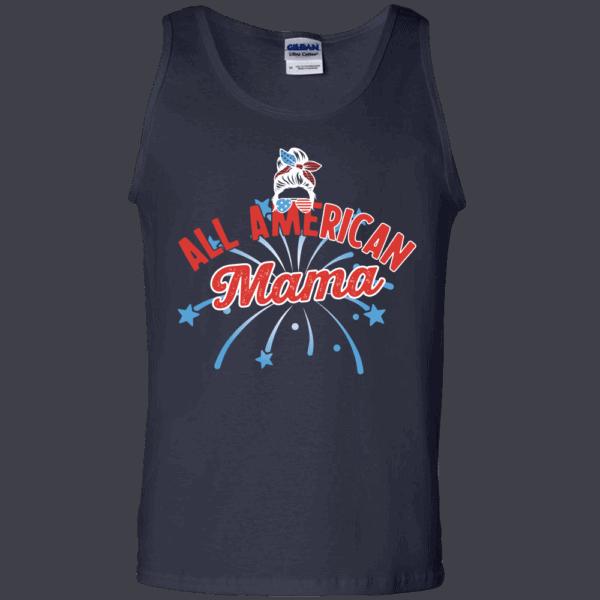 All American Mama - Custom Printed Tank Top Navy