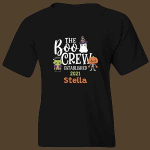 Boo Crew Personalized Custom Halloween T-shirt Youth