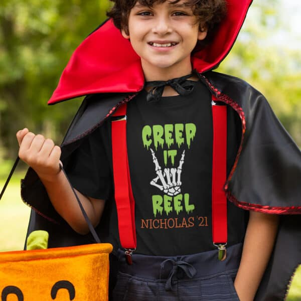 Boy wearing Creep It Real T-Shirt