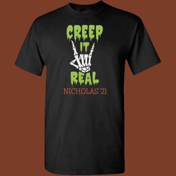 Creep It Real Personalized Custom Halloween T-shirt