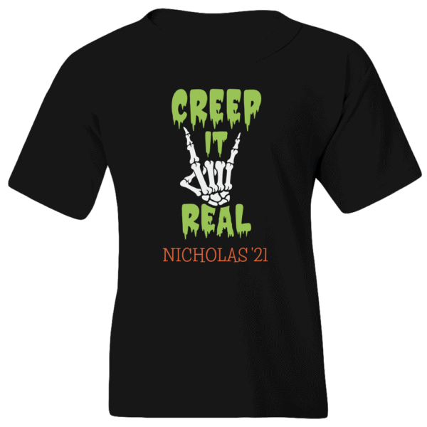 Creep It Real Personalized Custom Halloween T-shirt Youth