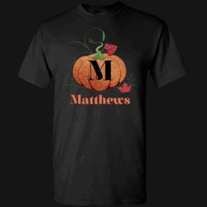 Monogram Personalized Pumpkin T-shirt Design