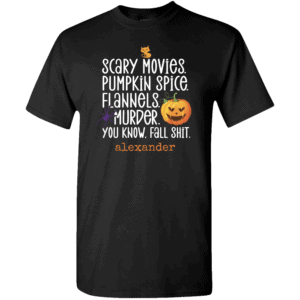 Scary Movies Personalized Custom Halloween T-shirt