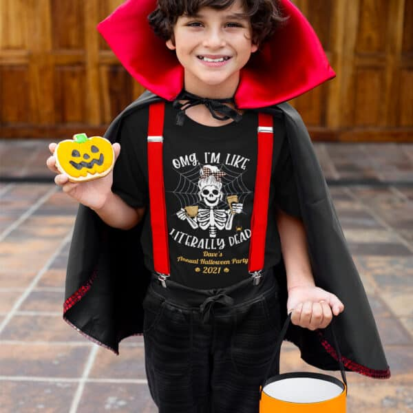 Literally Dead Personalized Custom Halloween T-shirt Youth