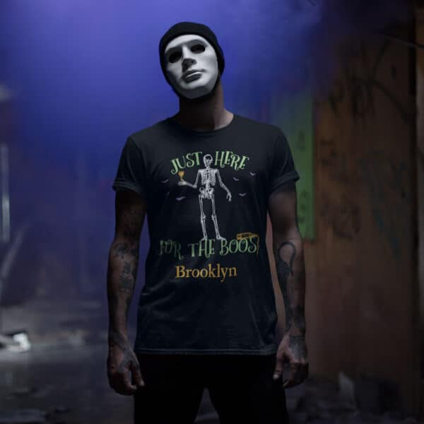 Here For the Boos - Personalized Custom Halloween T-shirt