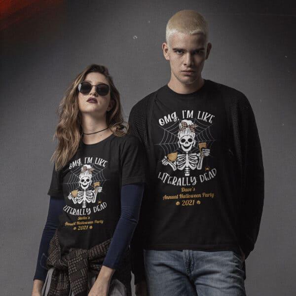 Literally Dead Personalized Custom Halloween T-shirt