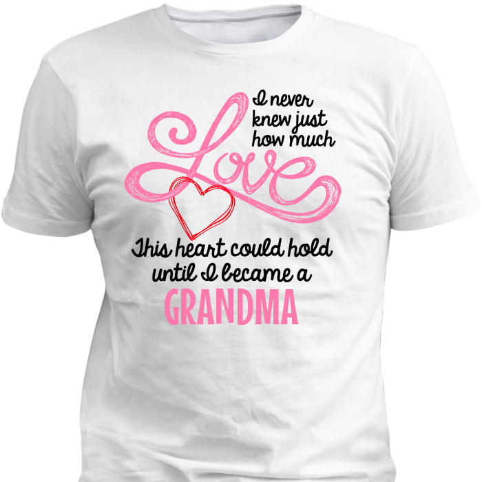 Grandma 39 s love heart personalized custom t shirts and for Custom t shirts and hoodies